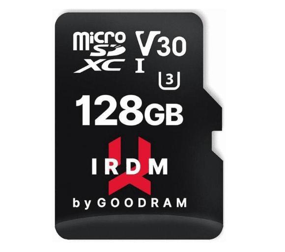 Karta pamięci GoodRam IRDM microSD 128GB UHS I U3 100/70 MB V30 ( wersja 64GB w cenie 34,99, a 256GB za 139,99zł) odbiór os. 0zł