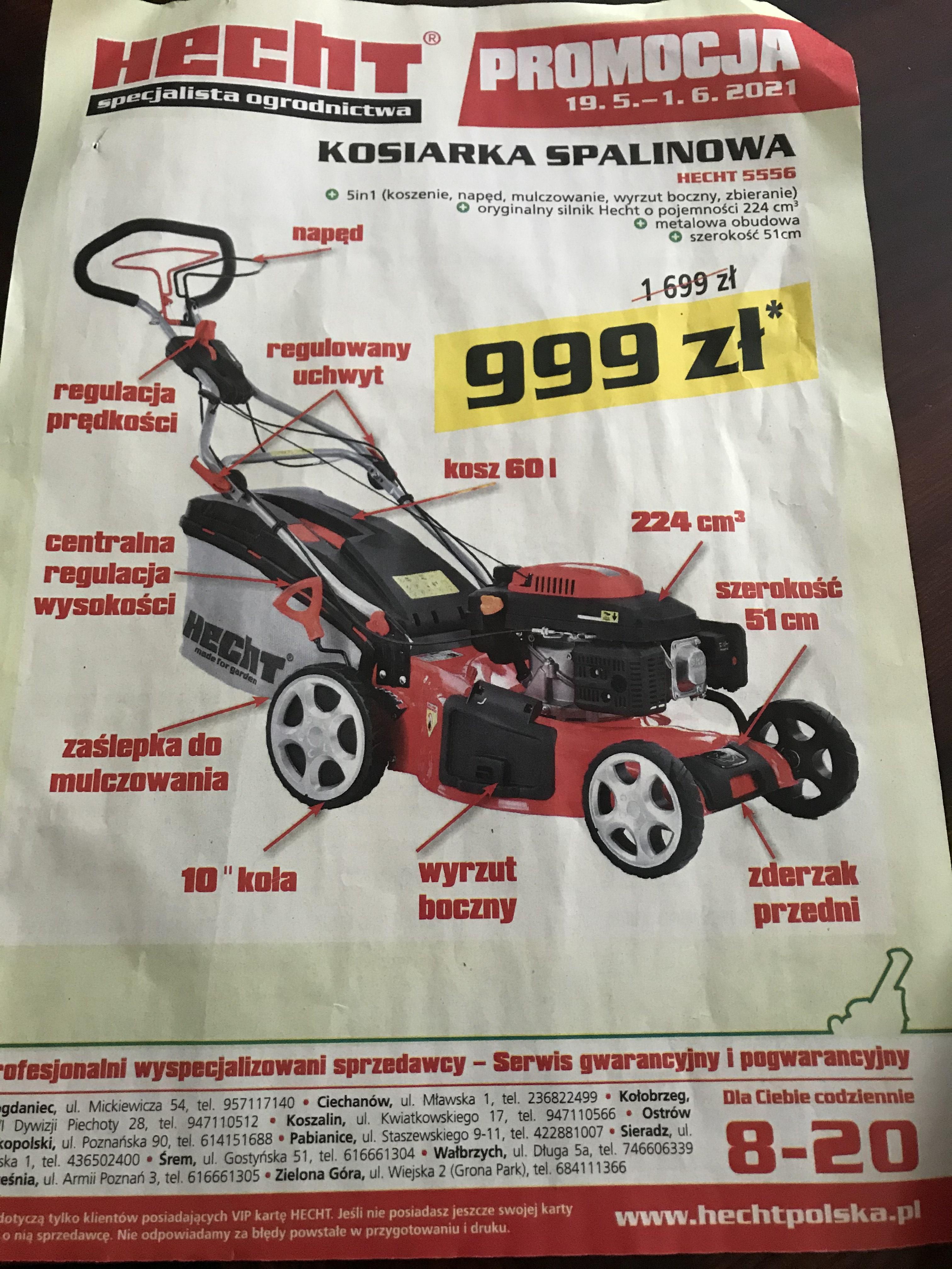 Kosiarka Hecht 5556