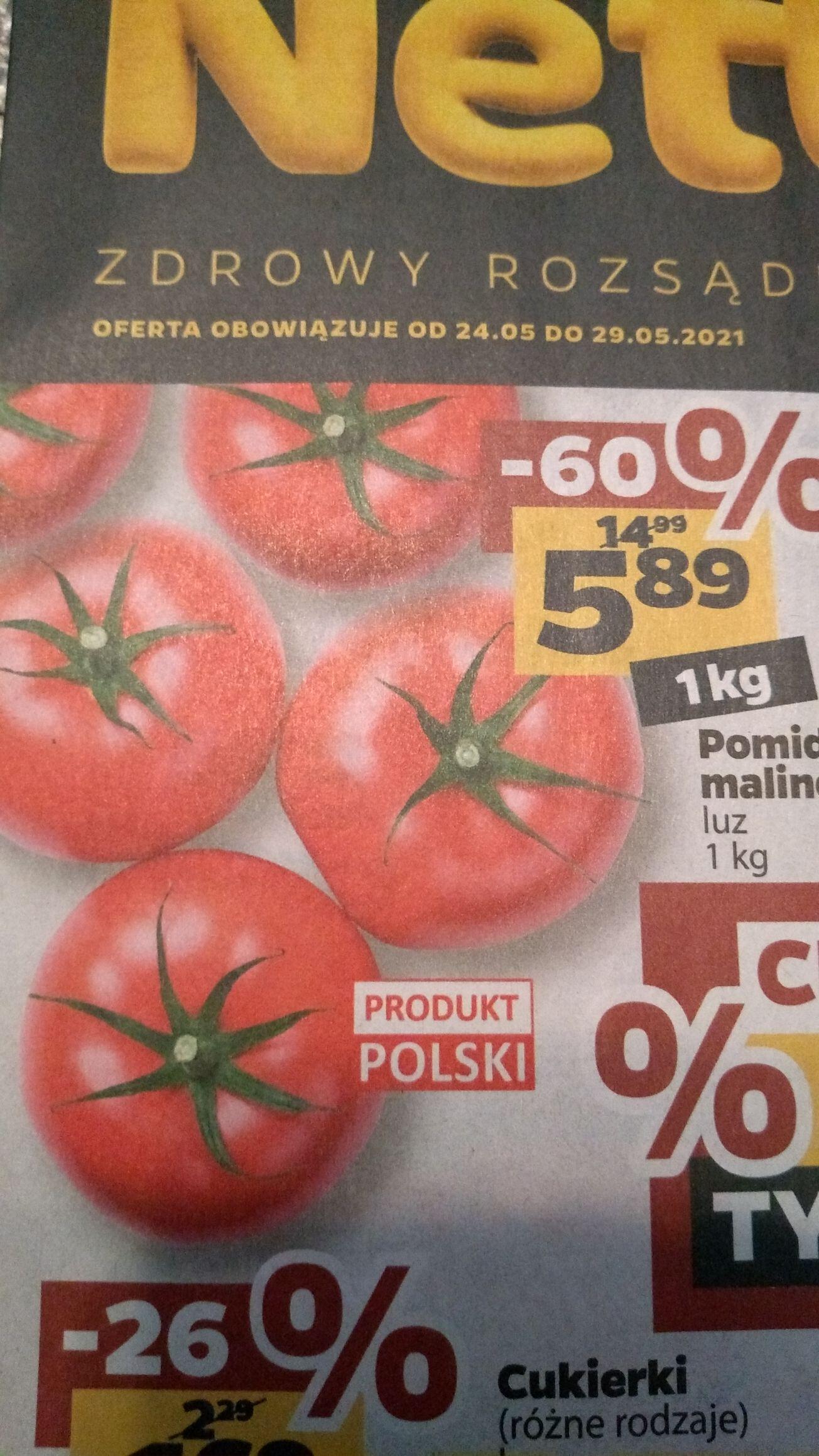 Polskie pomidory malinowe 1kg. Sklep NETTO