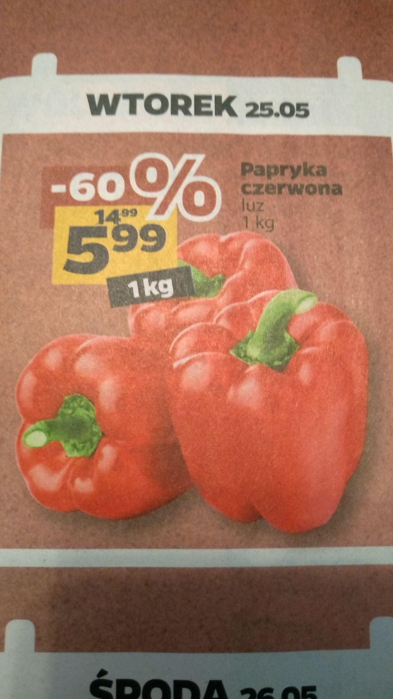 Papryka czerwona luz 1kg. Sklep NETTO