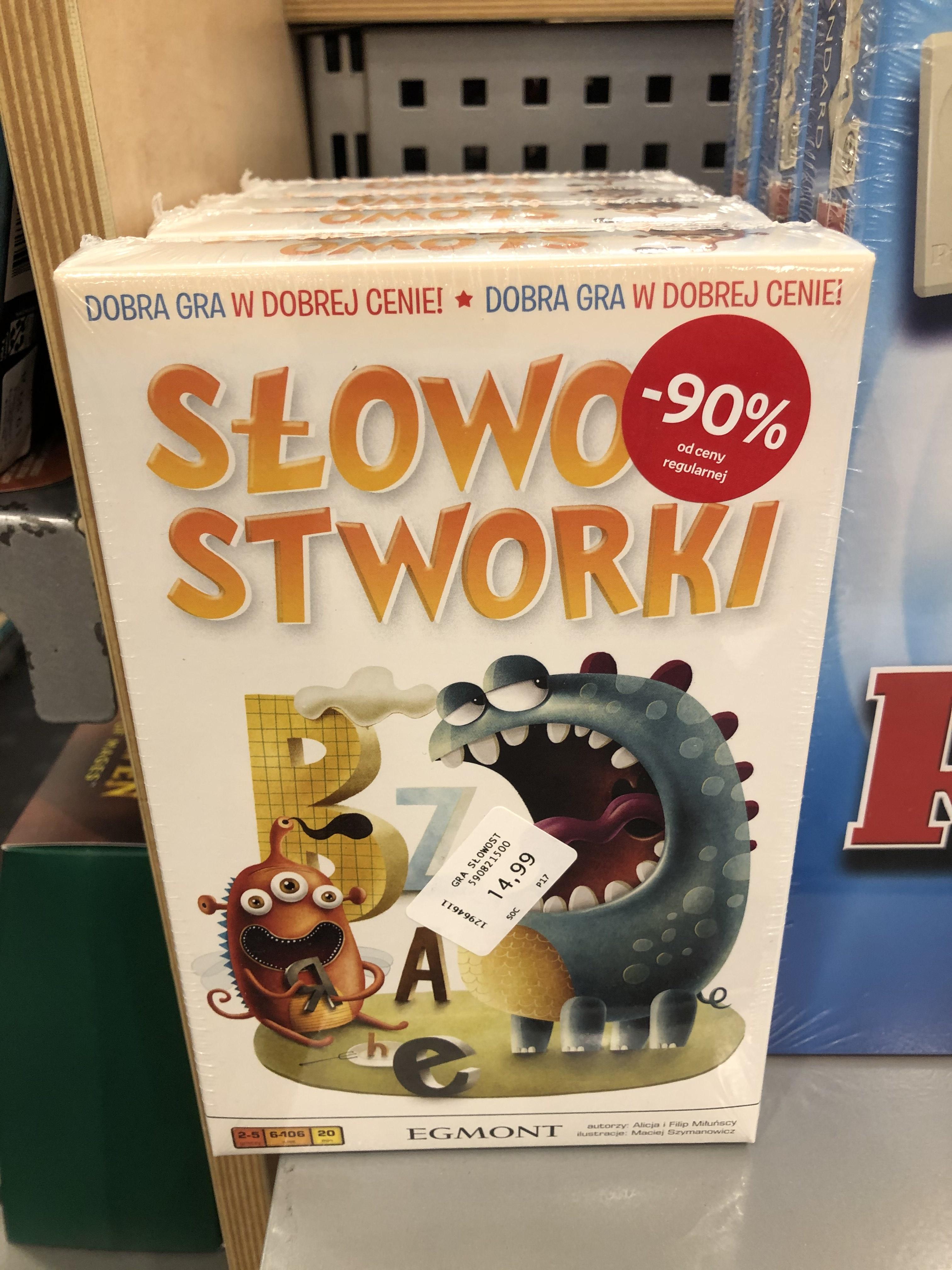 Słowostworki gra planszowa Empik Opole
