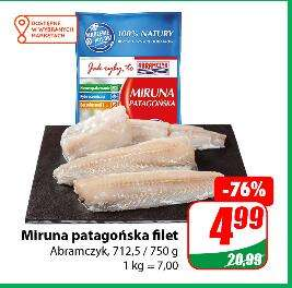 Miruna patagońska filet 712,5 / 750g (7 zł / kg) @Dino