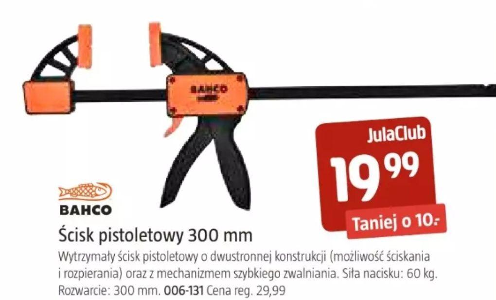 Ścisk pistoletowy 300 mm BAHCO, mechanizm szybkiego zwalniania, nacisk 60 kg w Jula od 21.05