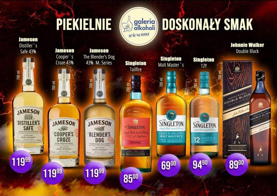 Whisky Singleton Malt Master's oraz inne single malt i blendy - 2k Galeria Alkoholi