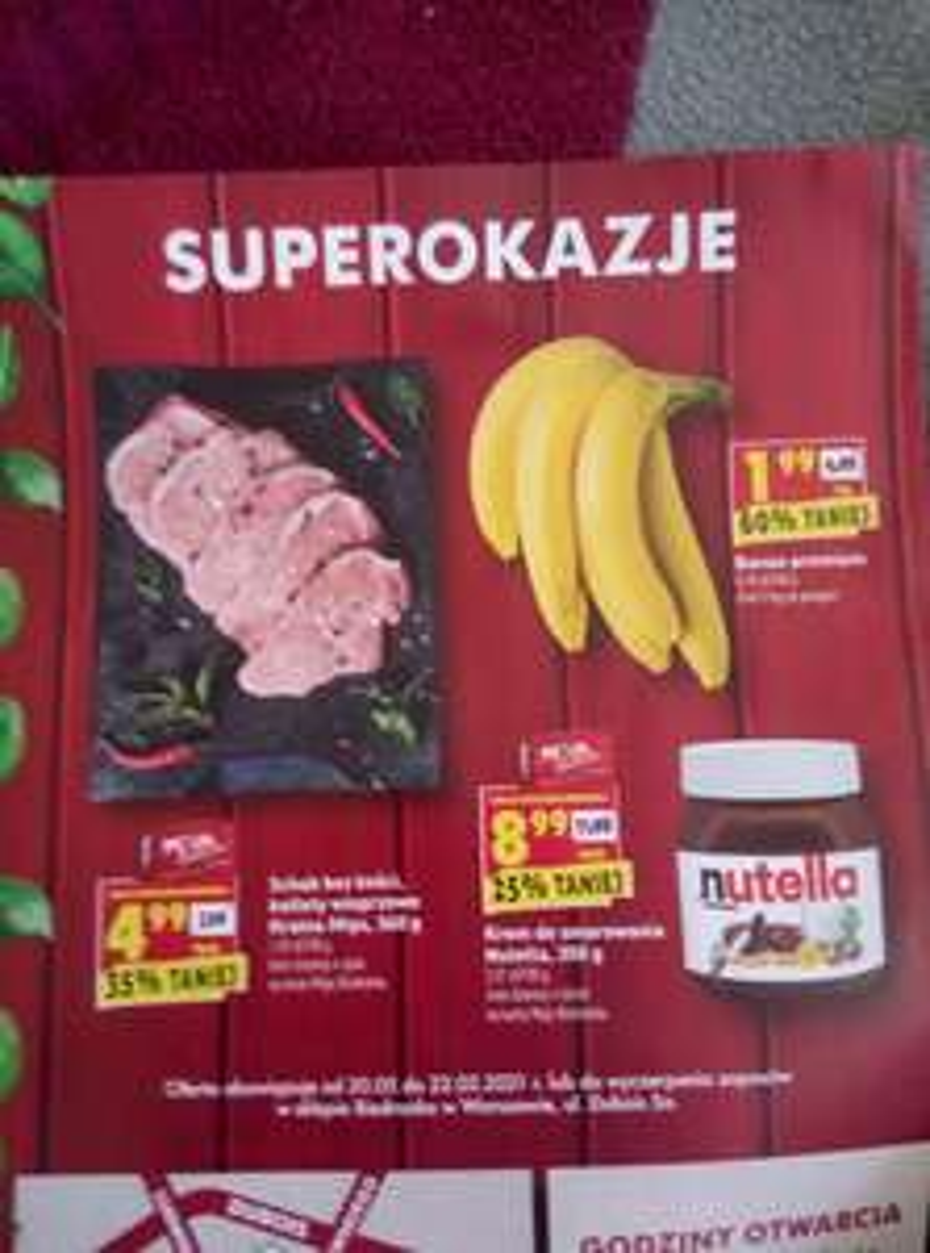 Banany 1,99 biedronka lokalnie Warszawa duboisa