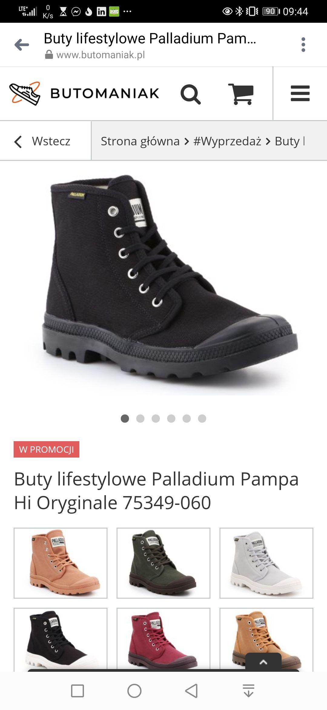 Buty pampa hi czarne i inne Palladium - 30 %