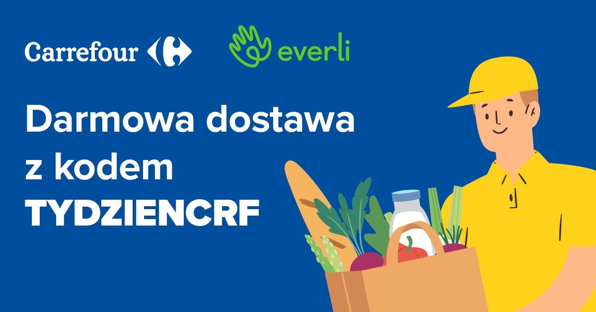 Darmowa Dostawa na zakupy w Everli 18-22.05 + cashback
