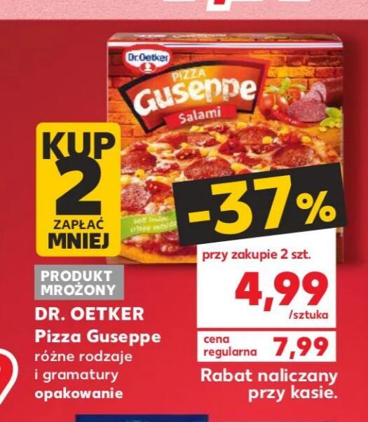 Pizza Guseppe Przy zakupie 2pizz cena 4.99 za pizze @Kaufland