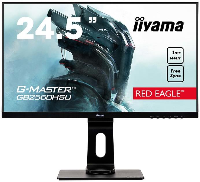 """Monitor 24,5"""" 144Hz iiyama G-Master GB2560HSU-B1 Pivot"""