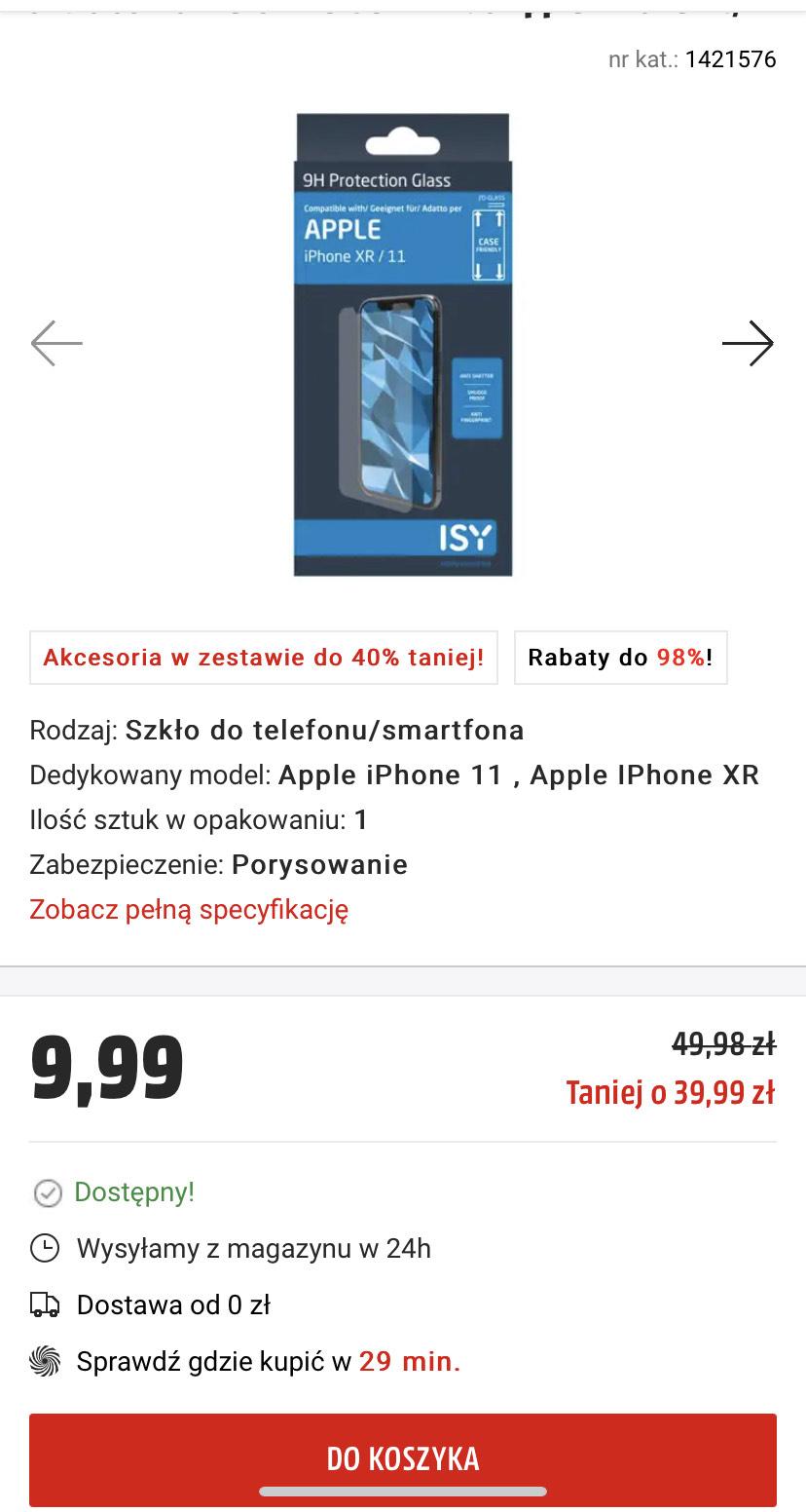 Szkło ochronne ISY IPG-5011-2D do Apple iPhone XR/11