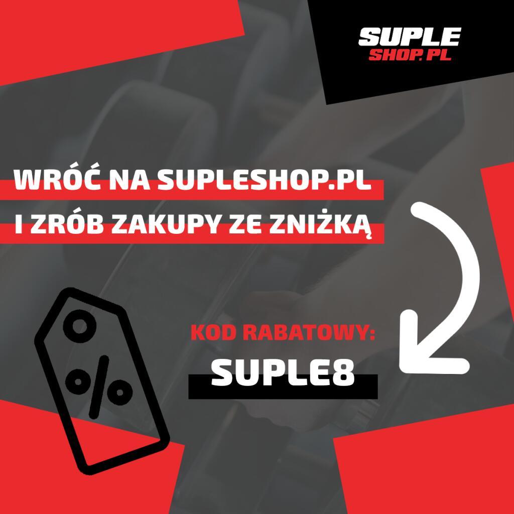 Zniżka na cały asortyment sklepu sportowego SupleShop