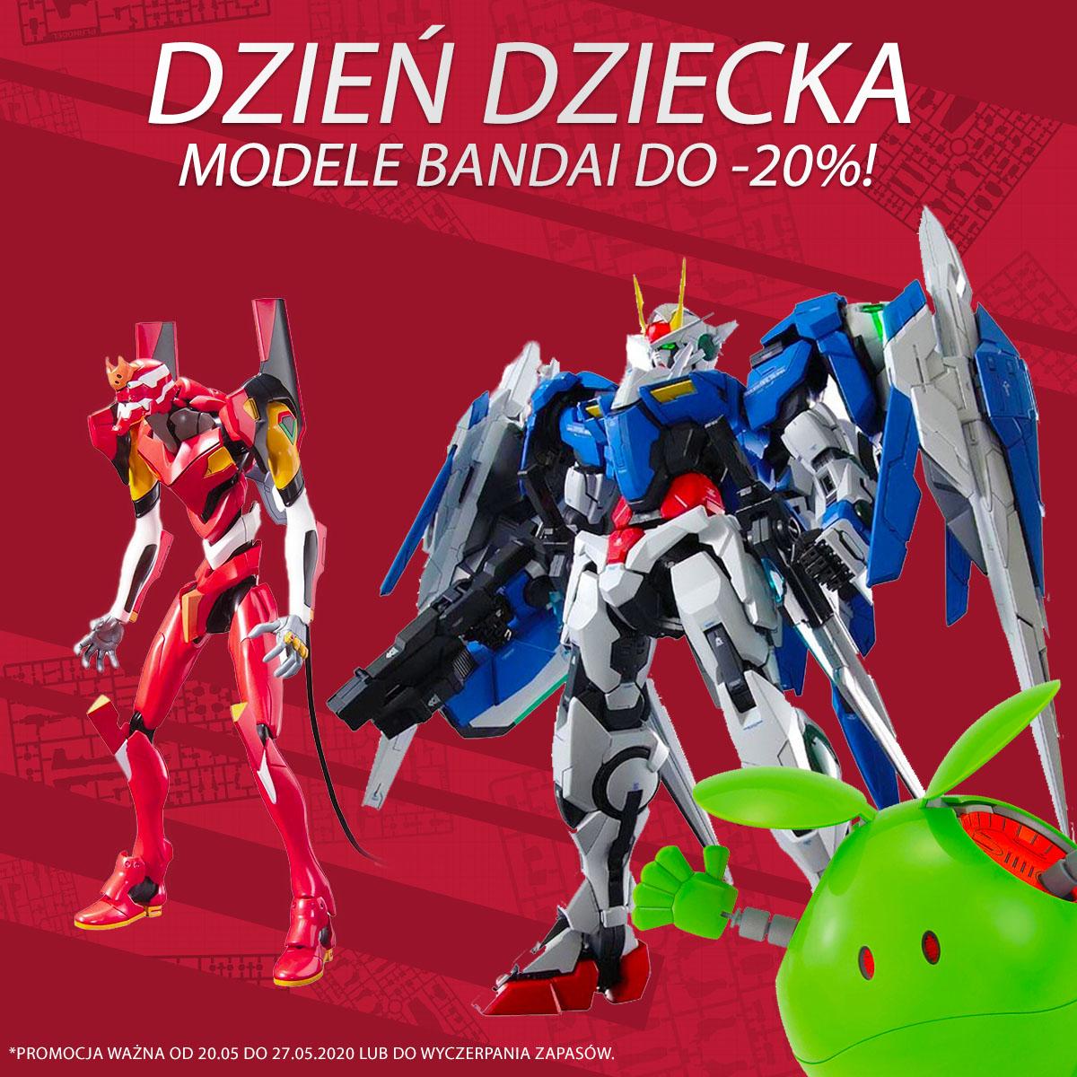 Modele Gundam 20% taniej