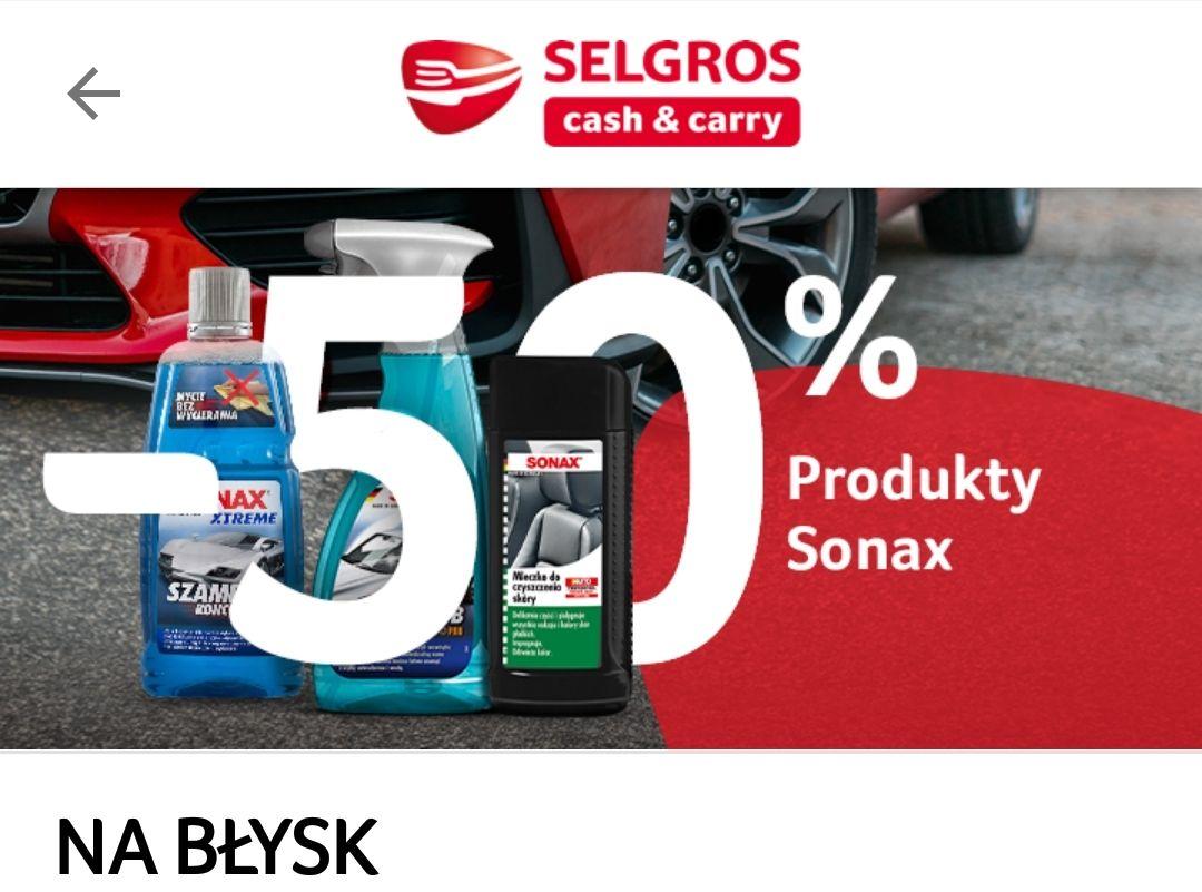 -50% na produkty marki Sonax z aplikacją - Selgros