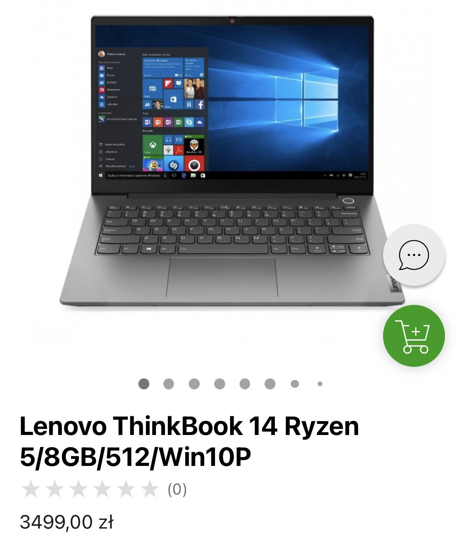 Laptop Lenovo ThinkBook 14 Ryzen 5/8GB/512/Win10P