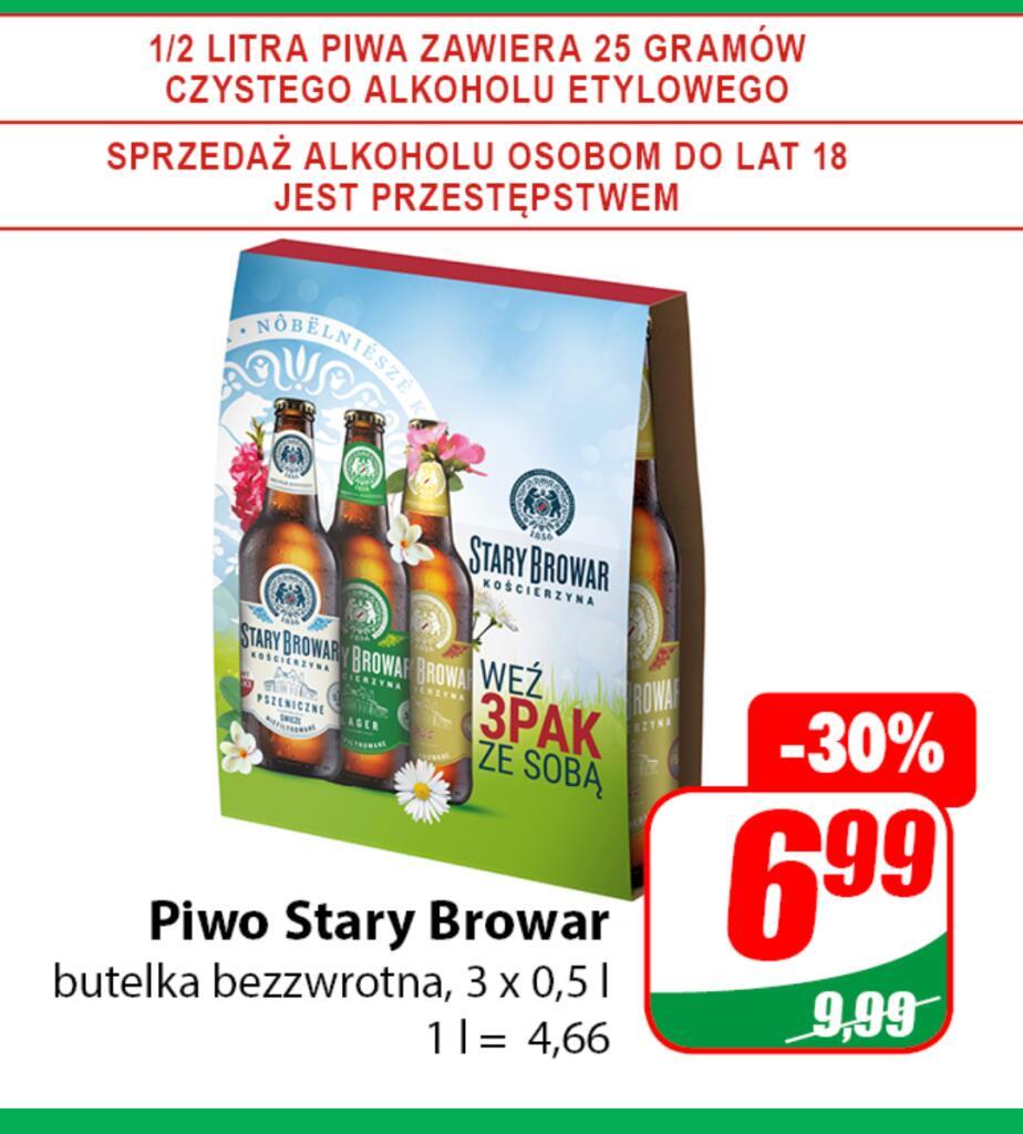 Piwo Stary Browar 3 x 0,5 L but. bezzw 1L = 4,66 /Dino/