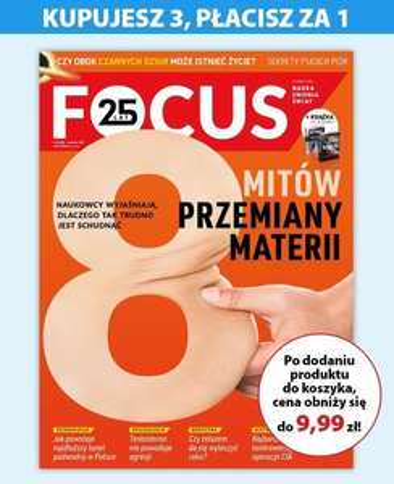 Magazyn Focus : 3 numery w cenie 1