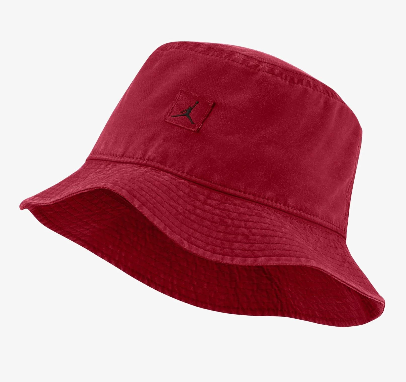 Czerwony kapelusz Jordan BUCKET WASHED UNISEX @Zalando