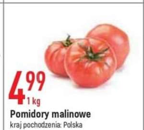 Pomidory malinowe 4.99/kg E.leclerc 27.05