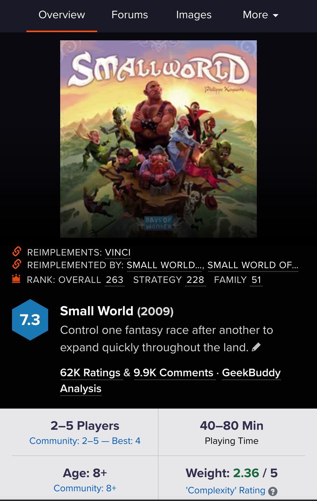 Gra planszowa Smallworld