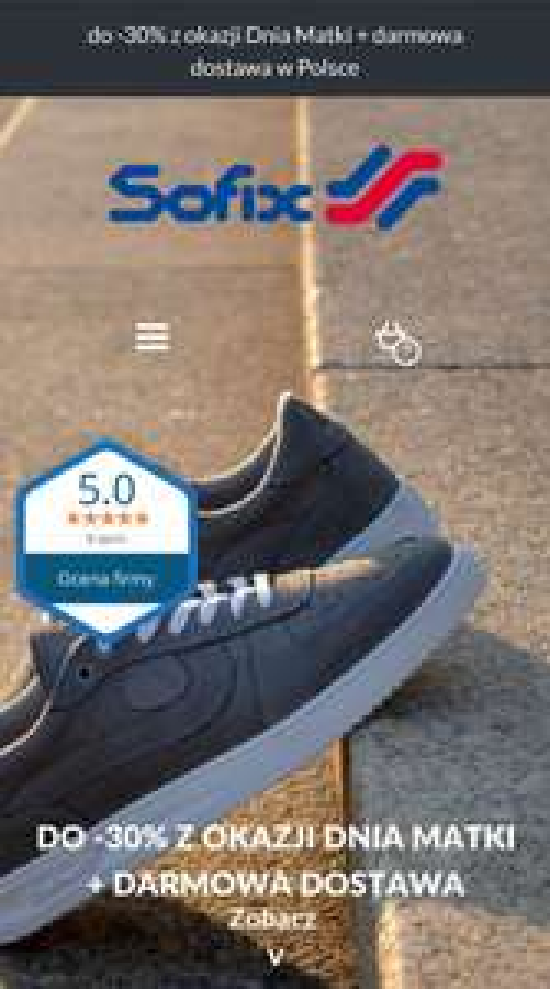 Polskie buty Sofix do -30% + dostawa free