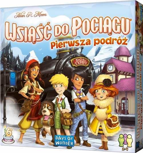 Wsiąść do Pociągu: Pierwsza podróż - gra planszowa dla dzieci już od 5 lat. Możliwe dodatkowe 10 zł rabatu w aplikacji