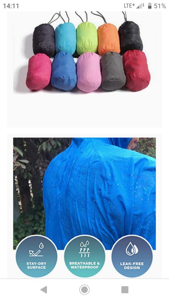 Gebuter Ultralekka kurtka przeciwdeszczowa