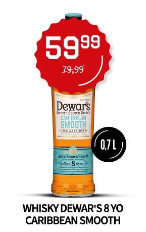 Whisky Dewar's 8YO Caribbean Smooth 40%/0,7L/Duży Ben + inne okazje
