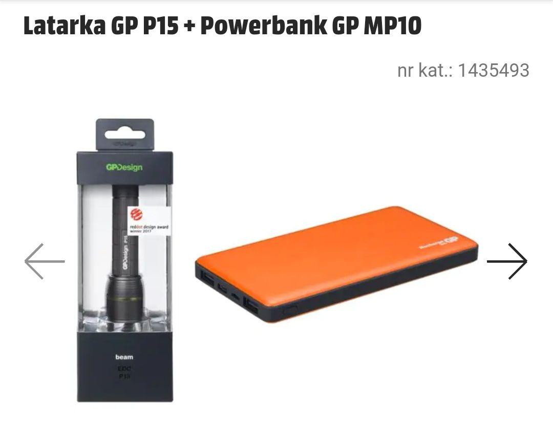Latarka + Powerbank GP