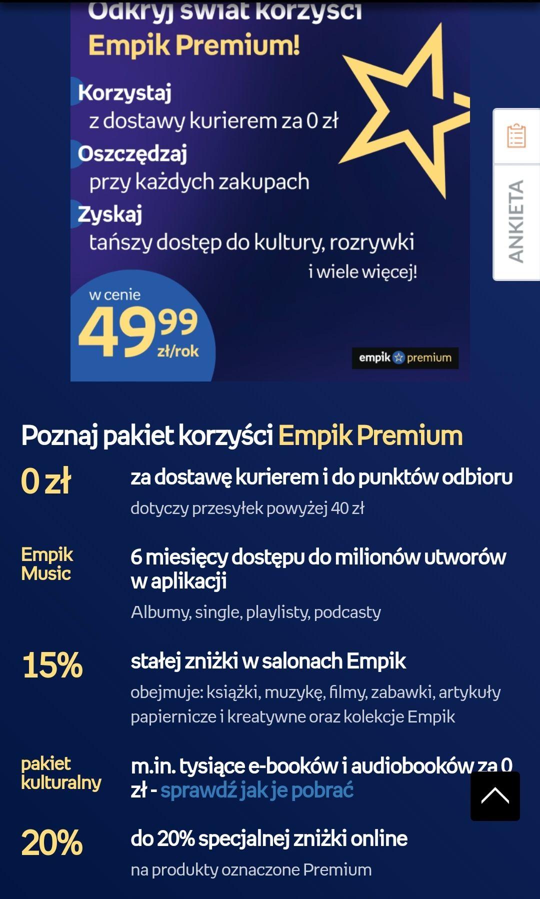 EMPIK PREMIUM 3 miesiące za darmo dla subskrybentów newslettera Livro