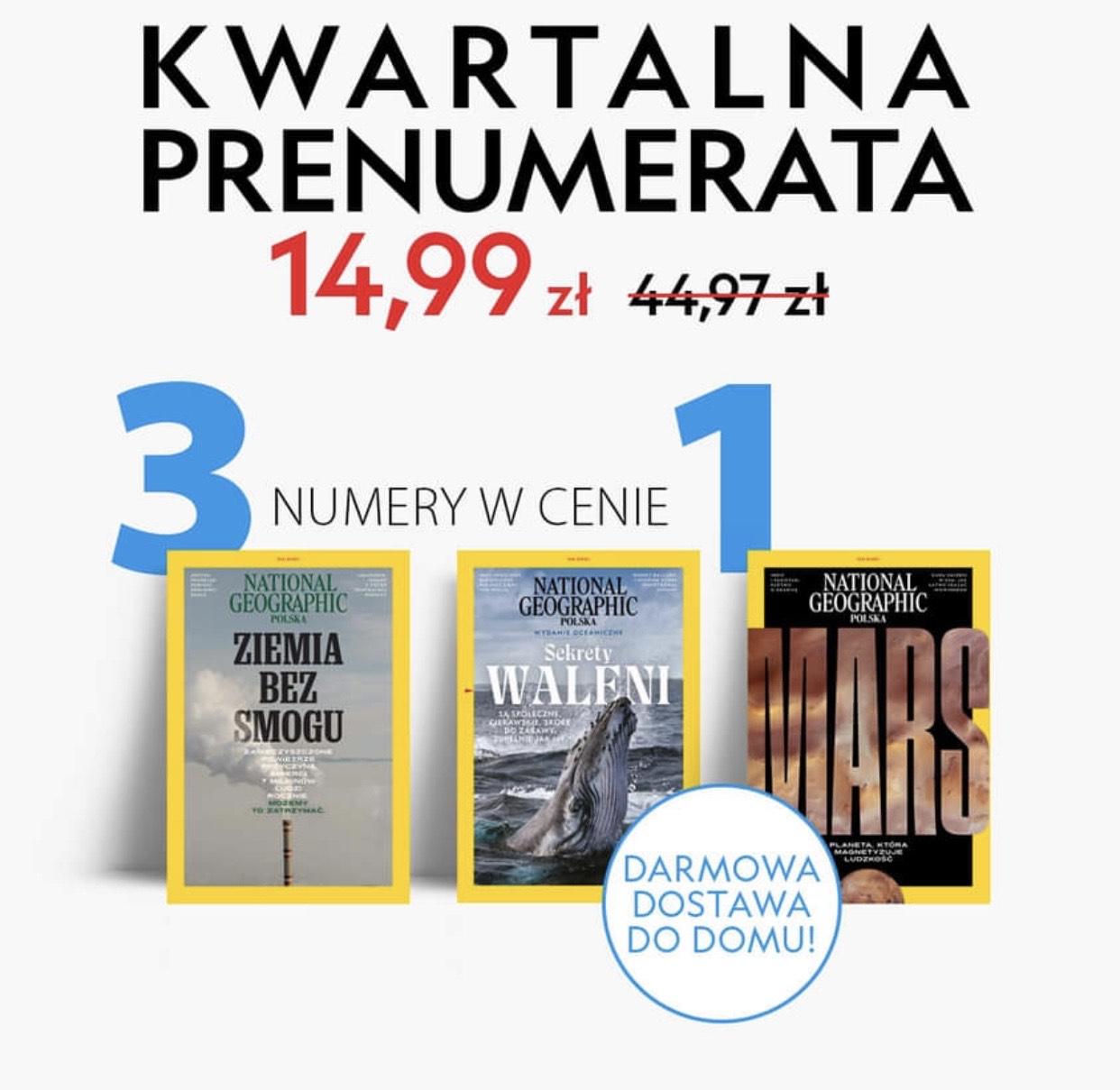 National Geographic 3 numery w cenie 1