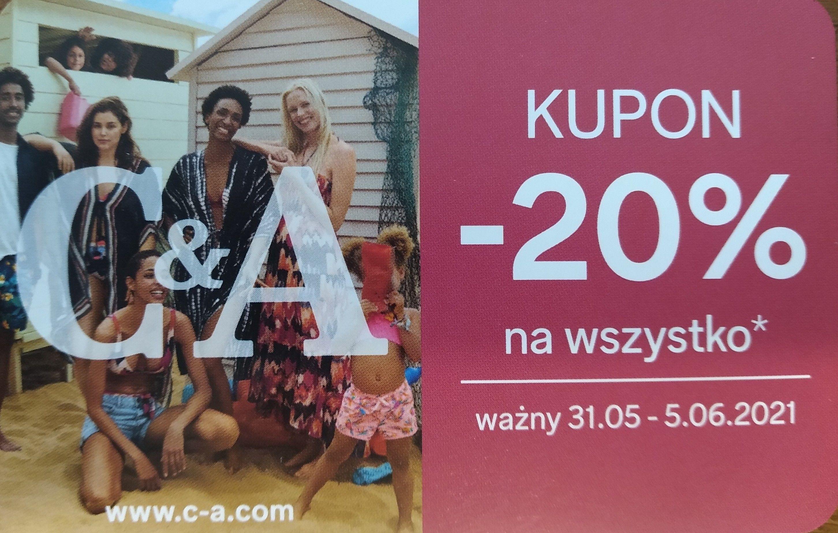 Kupon rabatowy -20% - C&A