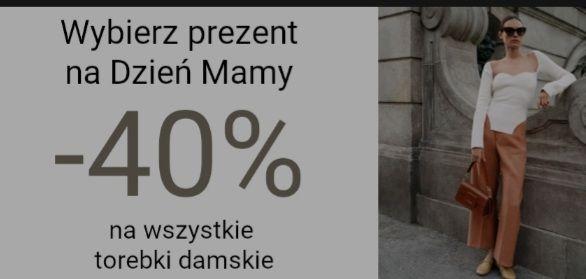 Gino Rossi. -40% na torebki damskie i nocna promocja -20% na obuwie i torby