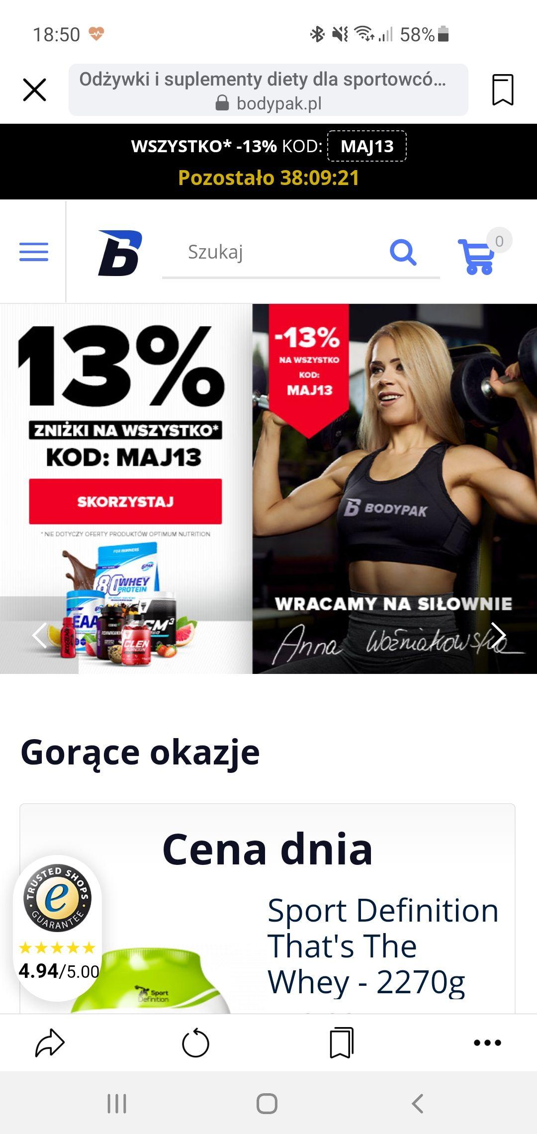 Suplementy na bodypack -13%