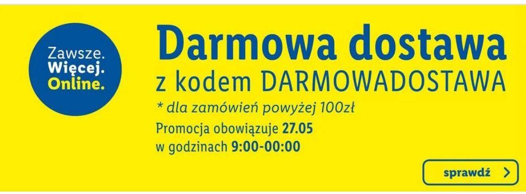 Darmowa dostawa z kodem @Lidl