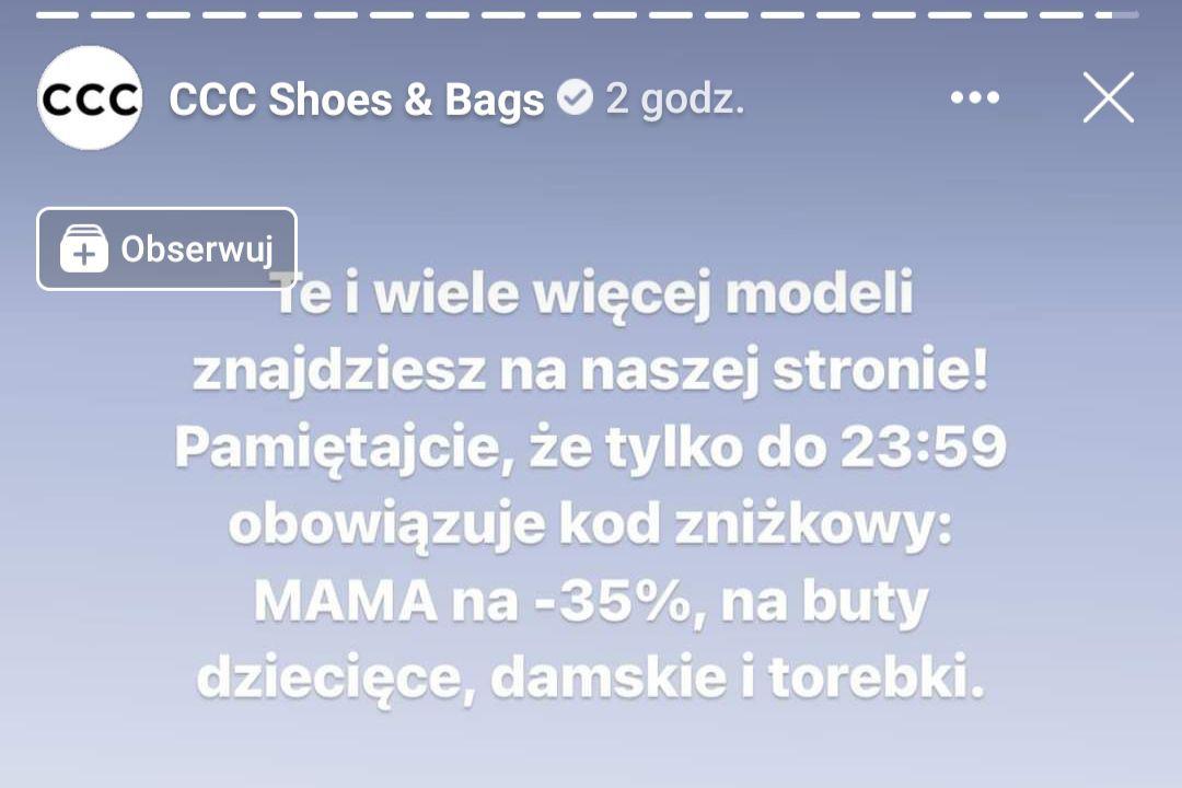 """CCC -35% z kodem """"MAMA"""" - kolekcja damska, dziecięca"""