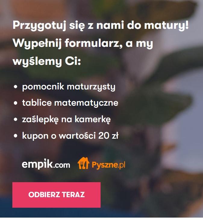 Kupon zniżkowy o wartości 20 PLN do wykorzystania na pyszne.pl lub empik.com