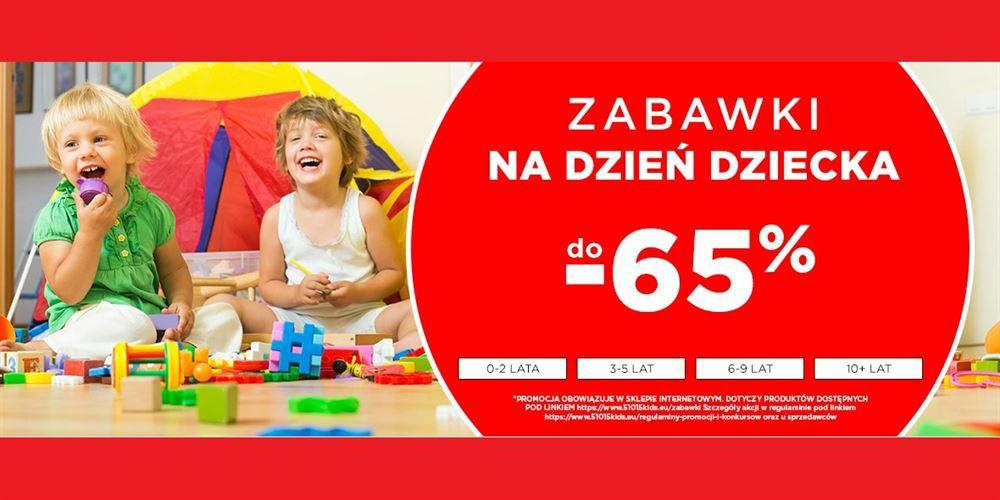 Do -65% na zabawki na dzień dziecka
