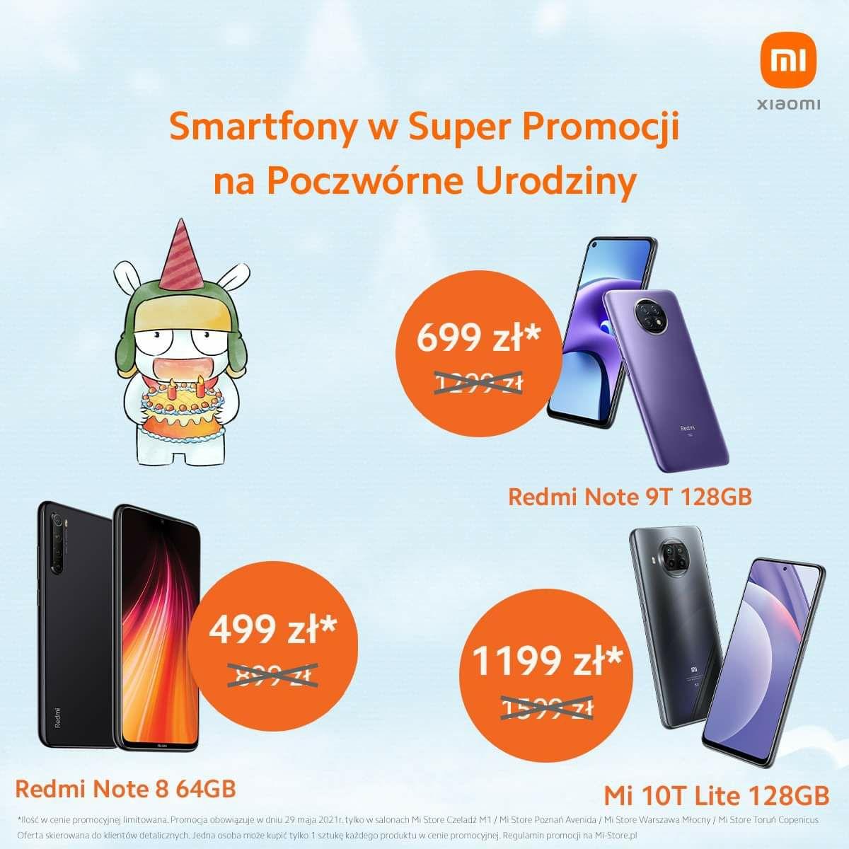 Urodziny Mi Store Redmi Note 9t 5g 4gb/128gb i wiele innych