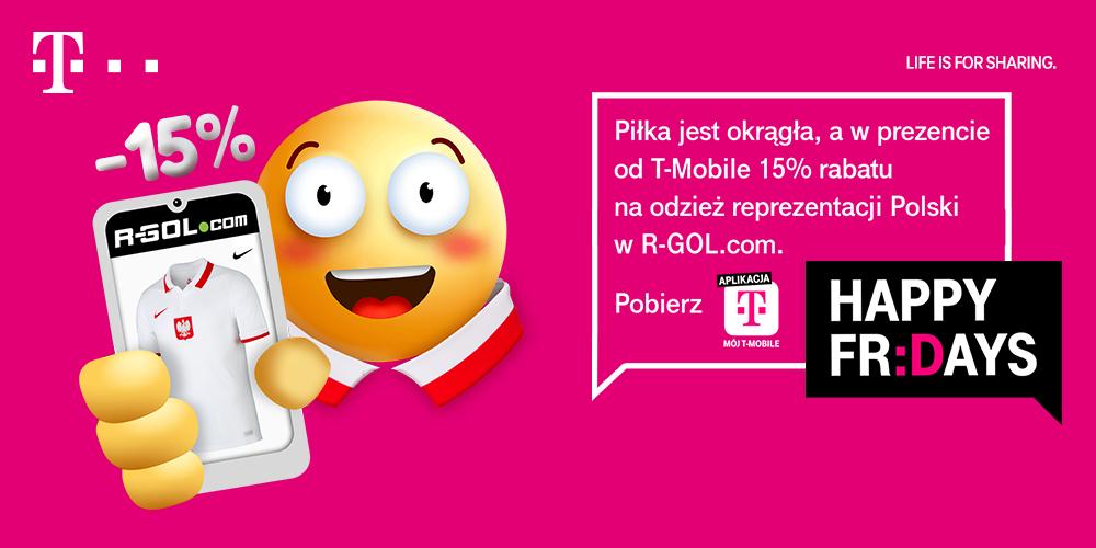 Zniżka 15% na odzież reprezentacji Polski - T-Mobile - Happy Fridays