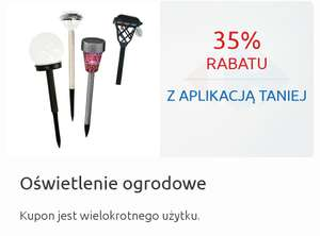 Oświetlenie ogrodowe 35% taniej z aplikacją Mój Carrefour