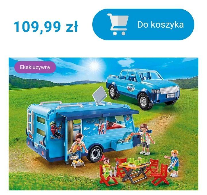 PLAYMOBIL Pick-Up z przyczepą kempingową FunPark i inne zabawki taniej