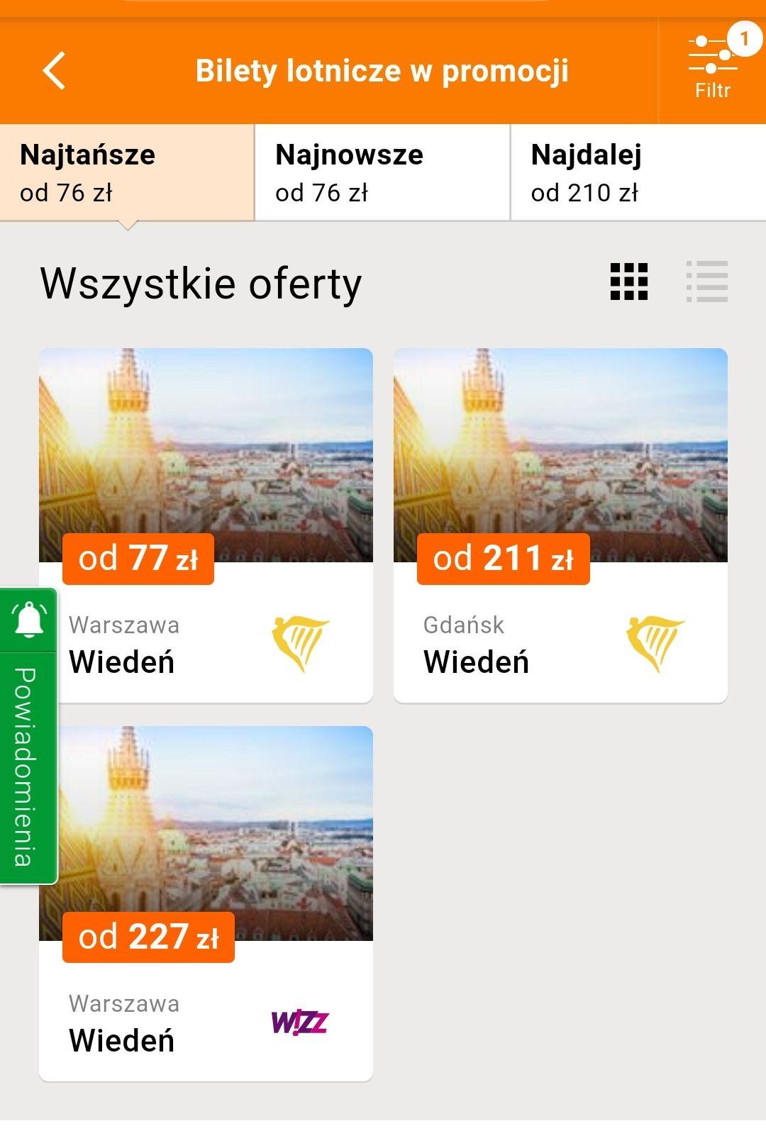 WIEDEŃ od 77 zł Loty z Warszawy i Gdańska
