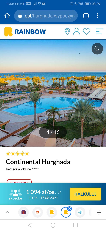 Hurghada 5 gwiazdek all inc. wylot 10.06