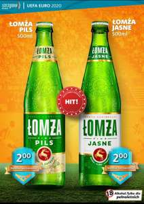 Piwo Łomża Pils i Jasne w Szczyrba alkohole