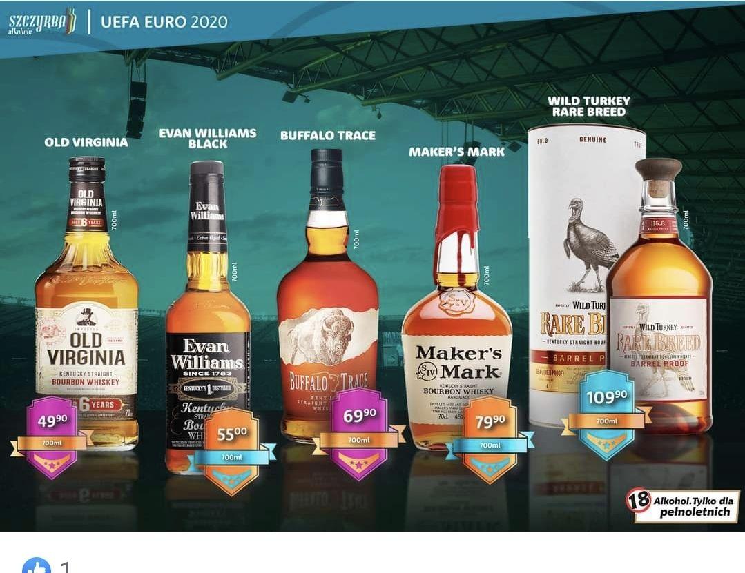 Whiskey, Bourbon Wild Turkey Rare Breed 0.7 i inne- Szczyrba alkohole