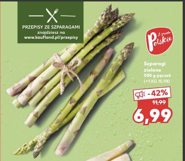 Szparagi zielone i białe 6,99 zł/500g @Kaufland