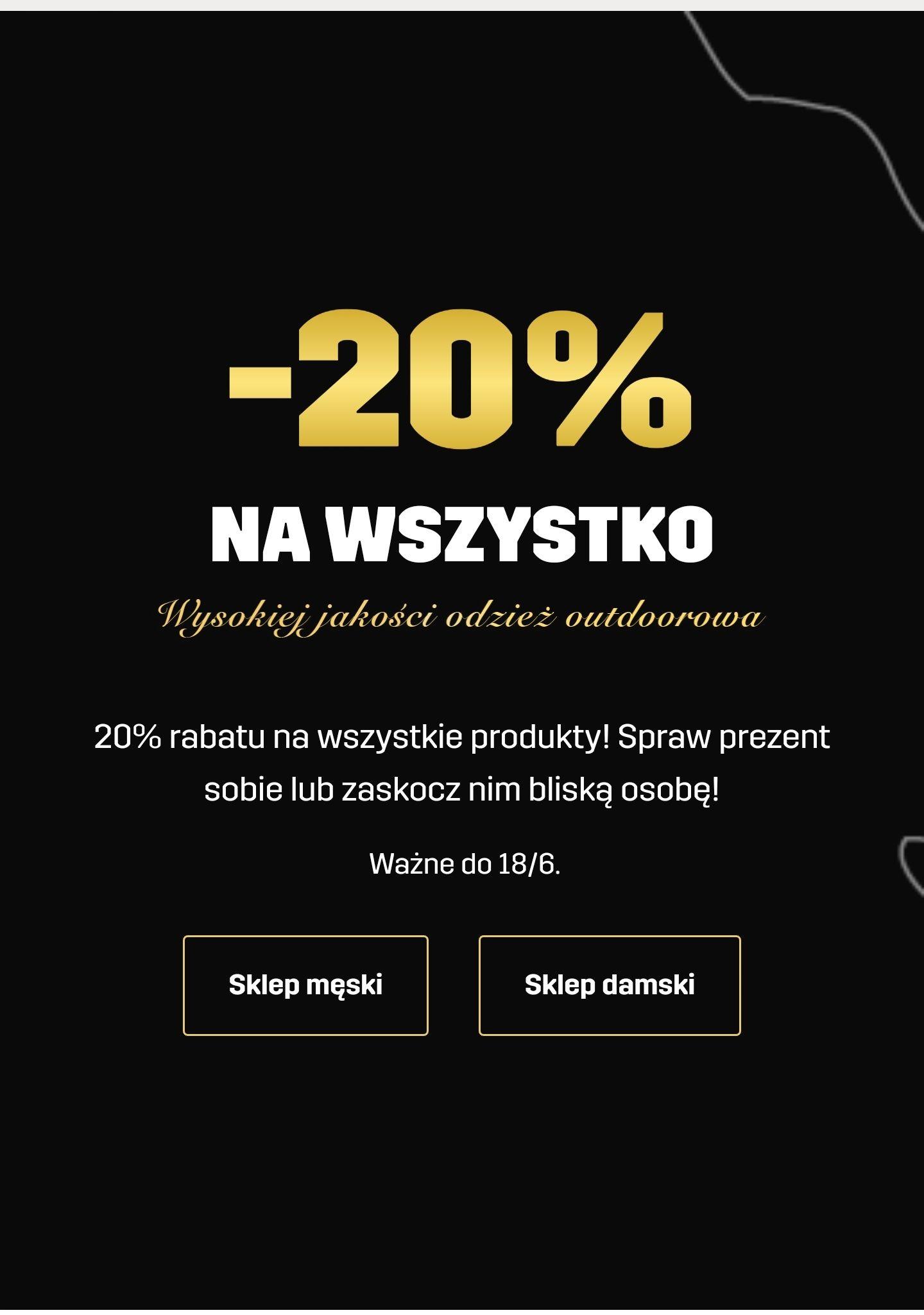 -20% na cały asortyment w RevolutionRace