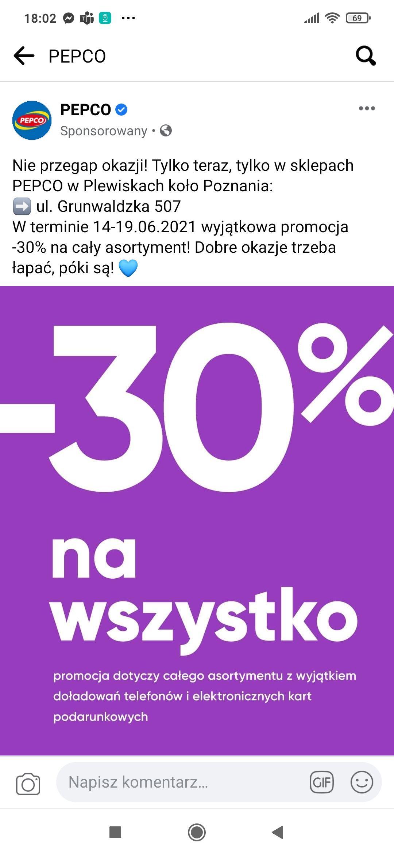 Pepco -30% na wszystko* Plewiska Poznań