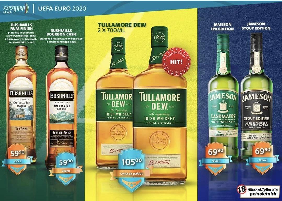 Whiskey Tullamore Dew 2x 0.7 - tylko 52.50zl za butelkę- Szczyrba alkohole