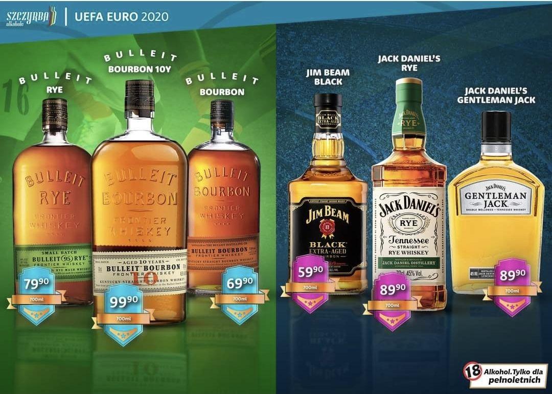 Whisky, Bourbon Bulleit 0.7 i inne - Szczyrba Alkohole